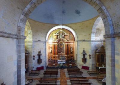 Interior de la iglesia de la Ascensión del Señor de Ajangiz