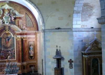 Pechinas que sustentan la cúpula central