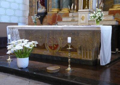 Mesa de altar construida en 1813 por Juan Bautista Mendizábal