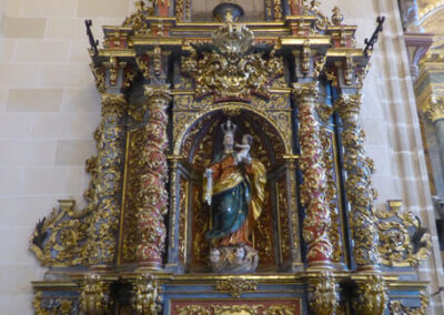 Retablo barroco de la Virgen del Rosario, tallado entre 1738 y 1742 por Pedro de la Garma