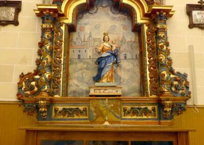Retablo de la Soledad, hoy presidido por la Virgen del Rosario