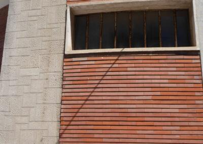 Ladrillo cara vista para el cierre de los muros