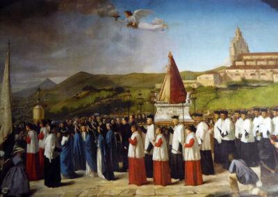 Bajada en procesión, Ramón de Elorriaga, 1860