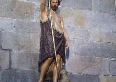 San Juan Bautista vestido con la piel de camello