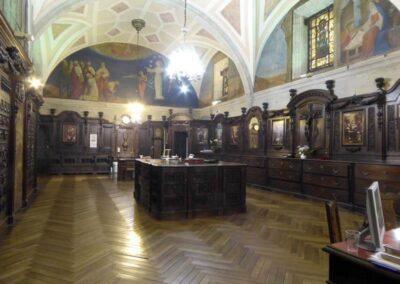 Sacristía reconstruida por José María Basterra en 1903