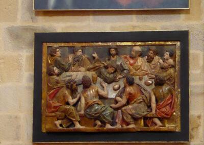 Relieve romanista que representa la última cena