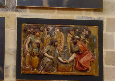 Relieve romanista que representa el lavatorio de pies