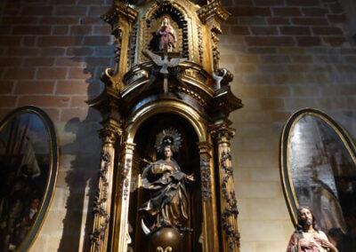 Retablo rococó en la capilla Lezama Leguizamón
