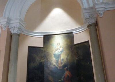 Lienzo de la Aparición de la Virgen del Pilar a Santiago en la capilla del Comulgatorio