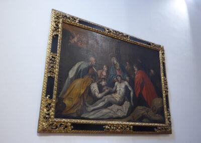 Lienzo de la Pasión de Cristo, inspirado en la obra de Lucas Jordan
