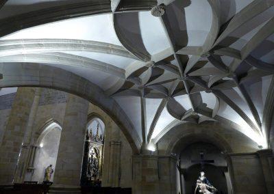 Tracería de la bóveda bajo el coro
