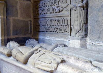 Detalle de los yacentes, Pedro de Albiz y su mujer