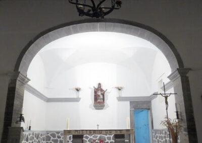 Cabecera rectangular de la iglesia de San Pedro