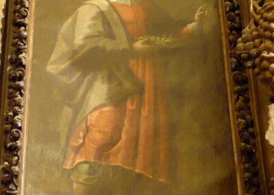 Lienzo de San Cosme en el retablo de la Dolorosa