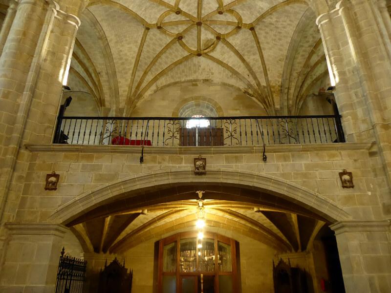Coro a los pies de la iglesia, obra de Juan González de Cisniega en 1603