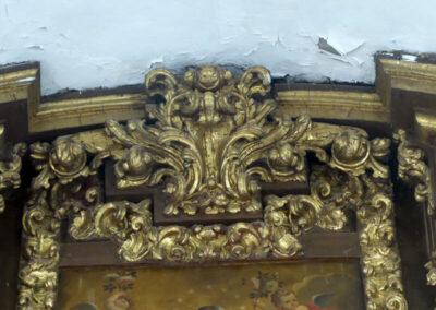 Molduras barrocas del retablo