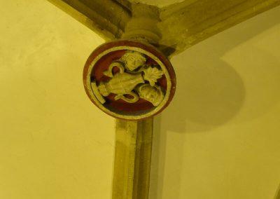 Decoración de la clave de la bóveda