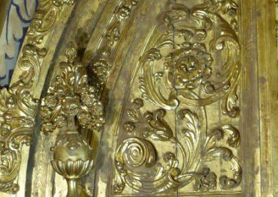 Detalle decorativo del retablo