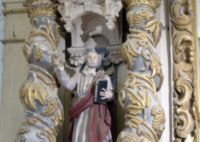 Columnas salomónicas en el retablo de San Vicente