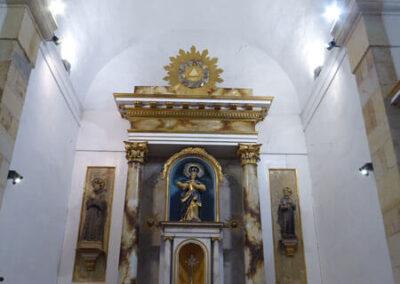 Bóveda de lunetos en la cubierta de la iglesia