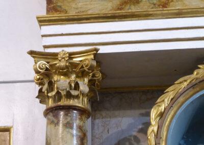 Columnas de orden compuesto en el retablo