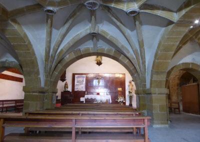 Bóvedas de crucería bajo el coro