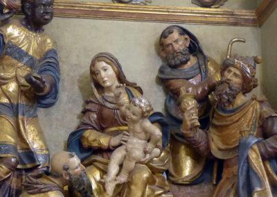 Detalle del retablo de la Adoración de los Reyes, construida en el siglo XVI