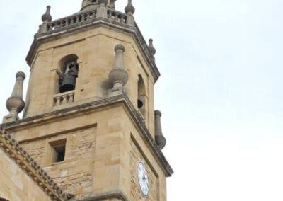 Torre campanario erigida en 1850 por Juan Bautista de Belaunzaran